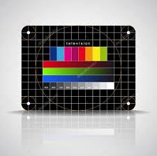 led tv color test pattern test card u2014 stock photo matju78