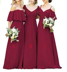 bridesmaid gown custom chiffon navy burgundy bridesmaid dresses online loverbridal