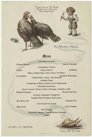 unlv libraries digital collections thanksgiving menu unknown