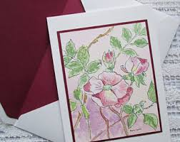 handmade watercolor cards watercolor card etsy