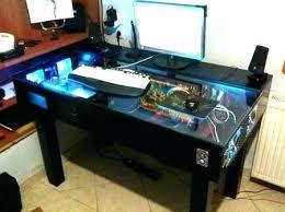 Gaming Desk Pc Desk Pc Build Computer Desk Computer Desk Cable Management