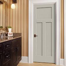 Home Interior Door by Jeld Wen 30 In X 80 In Molded Smooth 3 Panel Craftsman Primed