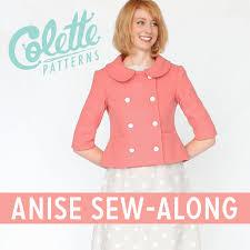 cute jacket pattern pattern company colette patterns sew along style anise jacket