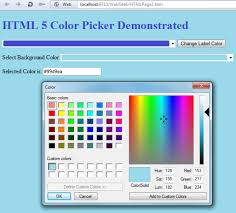 working with html5 color picker