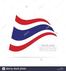 Thailand Round Flag Thailand National Flag Waving Vector Icon Stock Vector Art