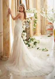 Wedding Dress Ivory Crystallized Allover Embroidery On Soft Tulle Style 2886 Morilee