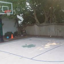 Half Court Basketball Dimensions For A Backyard by Outdoor Half Court Basketball Backyard Ideas