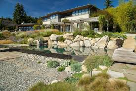 pebbles landscaping design ideas landscape style with wooden