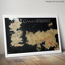 us map of thrones of thrones westeros map wall poster 61 x 91cm house wall
