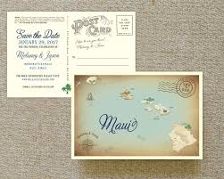postcard save the date vintage map postcard save the date hawaii
