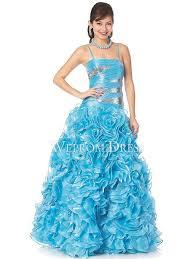 gown chiffon ice blue square spaghetti straps floor length petite
