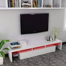 white gloss tv stand with colour change led lights for tv up to 70