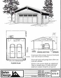 craftsman style garage plans 22 wide 4 12 roof with some craftsman features including large