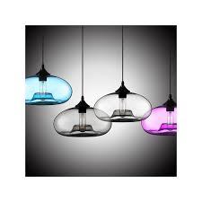 Pendant Lights Glass Modern Glass Pendant Light In Blue Bubble Design
