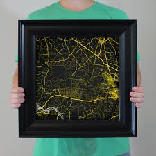 Ft Campbell Map Fort Campbell Map Art City Prints