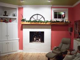 delightful interior with fireplace mantel shelf a wood rack