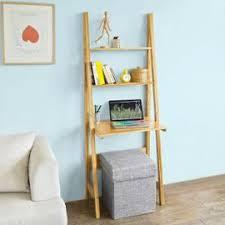 bureau echelle frg60 b n bureau table étagère style échelle de 2 tablettes et 1