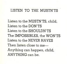 inspirational posters shel silverstein silverstein and poem