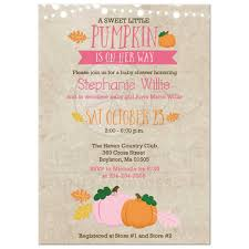 little pumpkin baby shower invitation pink and orange pumpkin
