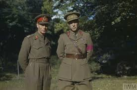 hm king george vi with the british liberation army in belgium