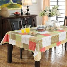 house scenery crochet tablecloth table cover restaurant dining
