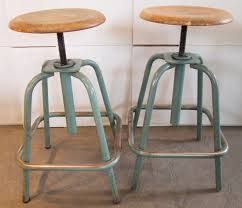Industrial Adjustable Bar Stools Pair Of French Industrial Adjustable Stools At 1stdibs