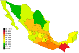 Map Of Tijuana Mexico by List Of Mexican States By Poverty Rate Wikipedia