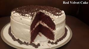 homemade red velvet cake made by my mother food