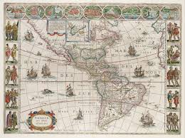 America North And South Map by File Americae Nova Tabula Map Of North And South America Willem