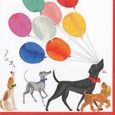 amazon com dog party cocktail napkins paper napkins dog birthday
