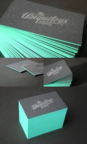 Thickness Of Business Card Edge Painted Business Cards By Blush Great Colors Edge