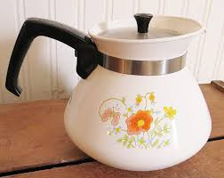 corning ware tea pot kettle wildflower p 104 6 cup perfect