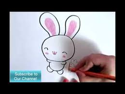 how to draw a cute bunny on paper cute animal drawing youtube