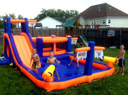 water slide bounce house the water slide combo it party
