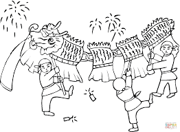 children playing with dragon coloring page free printable