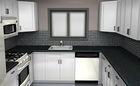 awesome black and red kitchen designs with gray floor kitchen