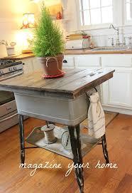 repurposed kitchen island repurposed wash tub to kitchen island hometalk