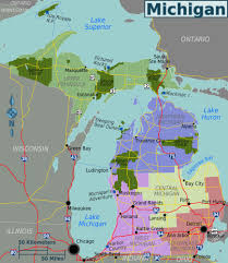 Michigan State Map Large Regions Map Of Michigan State Michigan State Large Regions