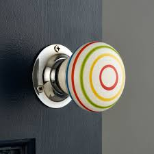 mortice glass door knobs unique home accessories homeware and decor multi colour striped