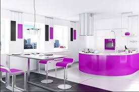 küche lila küche ideen für moderne wohnküchen mit weiß lila farbschema dekor