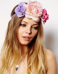flower hair band asos pretty flower side cluster hair band multi where to buy