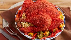 spice up your thanksgiving with this cheetos breaded turkey kdbc