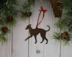 greyhound ornament etsy