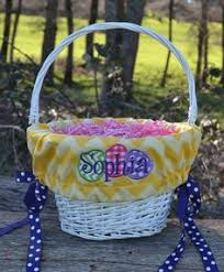 personalized easter basket liners ships next day personalized monogrammed easter basket pink