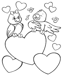 birds in love valentines coloring pages valentine coloring pages