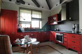 Red And Black Kitchen Cabinets Kitchen Classy Simple Red Kitchen Cabinets Red Kitchen Cabinets