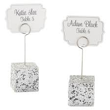 12ct silver glitter placecard holders target