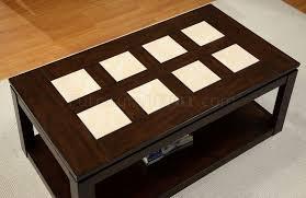 verona coffee table in espresso w options