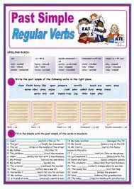 187 free esl past simple regular verbs worksheets