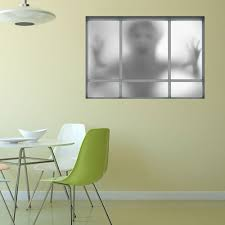 3d window ghost wall art sticker gray cm in wall stickers